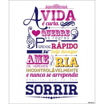 Quadro Cartão Papel Mdf Frases De Casa Sortidos Quadros